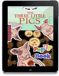 Cover art for THE THREE LITTLE PIGS AND THE SECRETS OF A POPUP BOOK