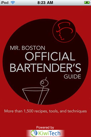 Cover art for MR. BOSTON OFFICIAL MOBILE BARTENDER'S GUIDE