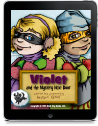 Cover art for VIOLET AND THE MYSTERY NEXT DOOR