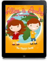 Cover art for ALICE & ANDY IN THE UNIVERSE OF WONDERS